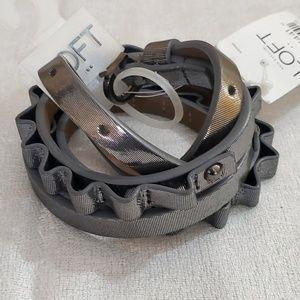 LOFT Grey Shimmer Belt (M) #400